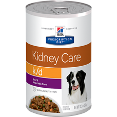 Hill's® Prescription Diet® k/d® Canine Kidney Care with Beef & Vegetable Stew 12.5oz