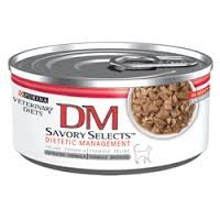 Purina Veterinary Diet DM Savory Selects Dietetic Management® Feline Formula In Gravy - 5.5 oz can